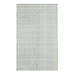 Debenhams - Light Blue Striped Rug