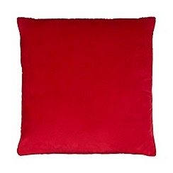 Home Collection - Red large velvet cushion