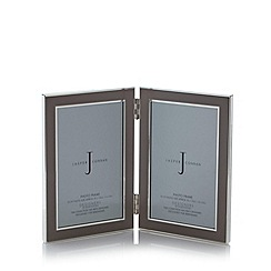 J by Jasper Conran - Grey enamel double aperture photo frame