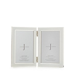 J by Jasper Conran - Designer cream enamel double hinge photo frame