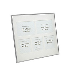 Home Collection - Silver edge five aperture photo frame
