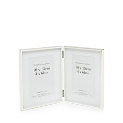 Home Collection - Silver double photo frame
