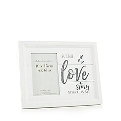 Home Collection - Wooden 'A True Love Story' photo frame