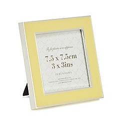 Home Collection - Light yellow enamel silver trim photo frame