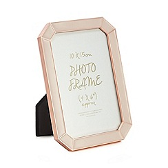 Home Collection - Pink enamel rose gold trim photo frame