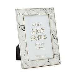 Home Collection - White marble-effect photo frame