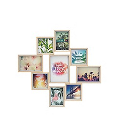 Home Collection - Wood effect nine aperture photo frame