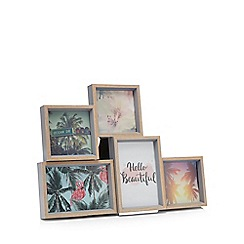 Home Collection - Wood effect five aperture photo frame
