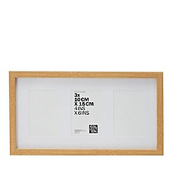 Home Collection - Natural Three Aperture Photo Frame