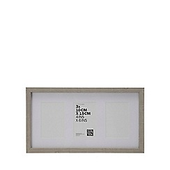 Home Collection - Grey Three Aperture Photo Frame