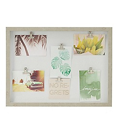 Home Collection - Wood Six Clip Photo Frame