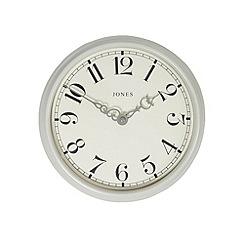 Jones - Small light grey 'Piccadilly' wall clock