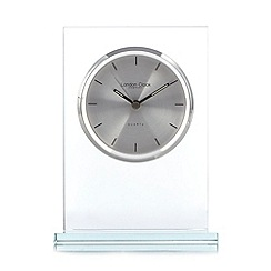 London Clock - Clear glass mantel clock