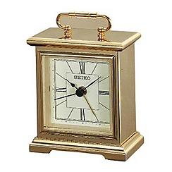 Seiko - Mini gold mantel carriage alarm clock