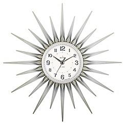 Acctim - Silver 'Stella' wall clock