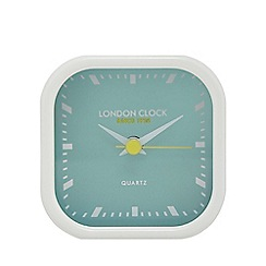 London Clock - Mini light green 'Bang' alarm clock