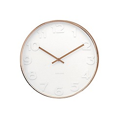 Karlsson - Mr. White numbers copper case wall clock