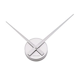 Karlsson - Little big time mini aluminium silver wall clock