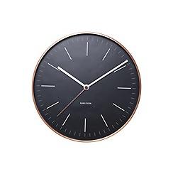 Karlsson - Minimal black copper case wall clock