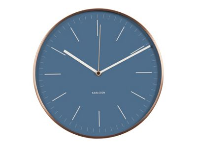Karlsson   Minimal Jeans Blue Copper Case Wall Clock by Karlsson