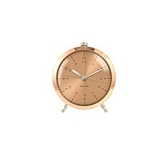 Karlsson - Button copper plated alarm clock