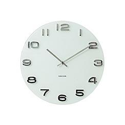 Karlsson - Vintage white round glass wall clock