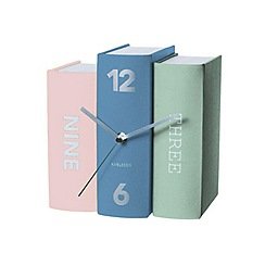 Karlsson - Book earth tones paper table clock