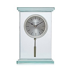 London Clock - Silver glass mantel clock