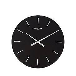 London Clock - Black glass wall clock