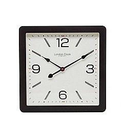 London Clock - Black square wall clock