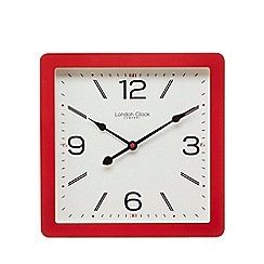 London Clock - Red square wall clock