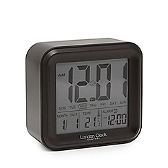 London Clock - Black digital alarm clock