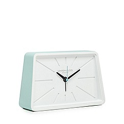 London Clock - Pale green and white alarm clock