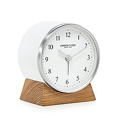 London Clock - White wooden alarm clock