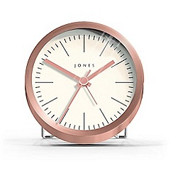 Jones - Metallic lab mantel alarm clock