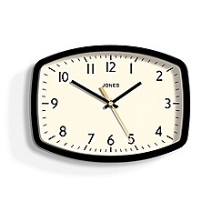 Jones - Black sketch wall clock