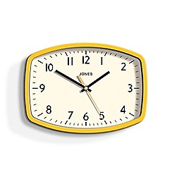 Jones - Yellow sketch wall clock