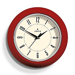 Jones - Red gloss finish ketchup wall clock