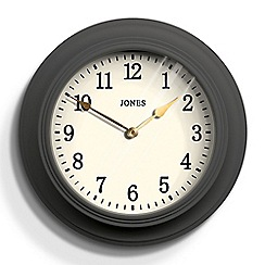 Jones - Grey matte finish cocktail wall clock