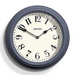 Jones - Navy blue matte finish Venetian wall clock