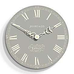 Jones - Grey Darwin wall clock