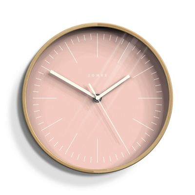 Jones Small pale pink cabin wall clock | Debenhams