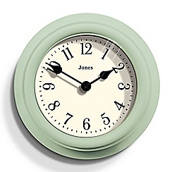 Jones - Green matte finish Frankie wall clock