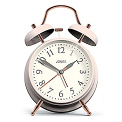Jones - Pale pink twin bell alarm clock