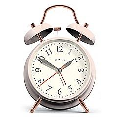 Newgate - Pale pink twin bell alarm clock