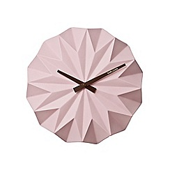 Karlsson - Pink origami wall clock