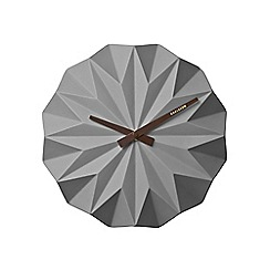 Karlsson - Grey origami wall clock