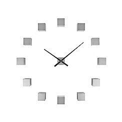 Karlsson - Silver DIY cubic brushed wall clock