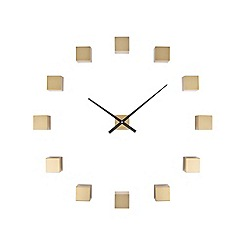 Karlsson - Gold DIY cubic brushed wall clock
