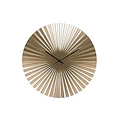 Karlsson - Gold sensu starburst wall clock